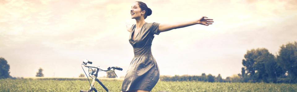womanon bike